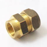 Brass MDPE Alkathene Female Iron Coupling 20mm x 1/2 - 18412000